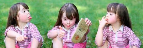 красивейший смешной портрет девушок Стоковая Фотография RF