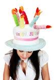 красивейший смешной шлем девушки Стоковое Фото