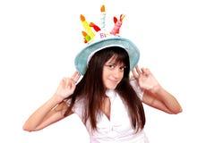 красивейший смешной шлем девушки Стоковая Фотография