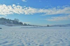 красивейший снежок катания на лыжах ландшафта назначения Стоковые Изображения RF