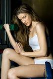 красивейший спорт тренировки клуба который женщина Стоковая Фотография