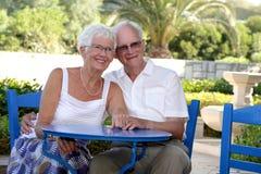 красивейший старший пар Стоковые Фотографии RF