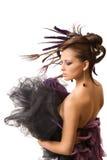 красивейший стиль причёсок Стоковое Фото