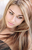 красивейший стиль причёсок Стоковые Фото