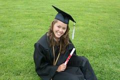 красивейший студент-выпускник Стоковые Фотографии RF