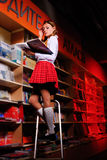 Красивейший студент в архиве. Стоковое Изображение RF