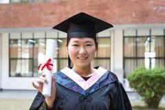 красивейший студент-выпускник женщины Стоковые Изображения