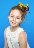 красивейший творческий стиль причёсок девушки Стоковые Фотографии RF
