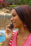 красивейший телефон девушки клетки Стоковое фото RF