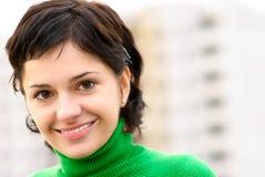 красивейший темный портрет волос девушки Стоковые Изображения RF