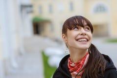 красивейший темный портрет волос девушки Стоковая Фотография