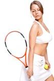 красивейший теннис ракетки девушки Стоковая Фотография RF