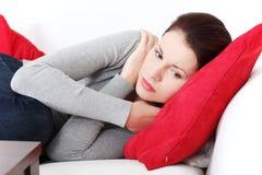 красивейший тревожиться женщины Стоковая Фотография