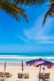 Красивейший тропический пляж Стоковые Изображения