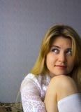 красивейший усмехаться блондинкы Стоковая Фотография RF