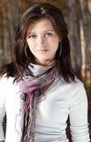 красивейший усмехаться девушки брюнет Стоковая Фотография RF