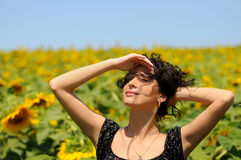 красивейший усмехаться девушки Стоковое Фото