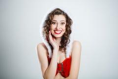 красивейший усмехаться девушки рождества Стоковые Фото