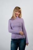 красивейший усмехаться портрета девушки Стоковое Изображение RF