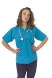 красивейший усмехаться специалиста в области здравоохранения внимательности Стоковое Изображение RF