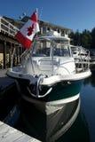 красивейший флаг Канады резвится яхта солнец Стоковые Фотографии RF