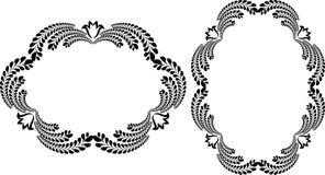 красивейший флористический вектор иллюстрации рамок Стоковые Фотографии RF