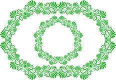 красивейший флористический вектор иллюстрации рамок Стоковые Фото