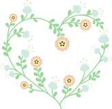 красивейший флористический вектор иллюстрации сердца Стоковое фото RF