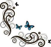 красивейший флористический орнамент Стоковое Изображение