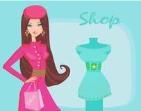 красивейший ходить по магазинам женщин Стоковое Изображение