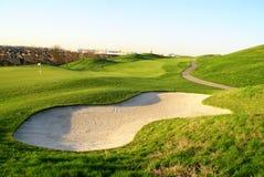 красивейший холм гольфа Стоковое Изображение