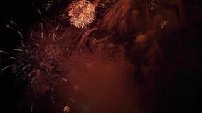 красивейший цветастый феиэрверк акции видеоматериалы