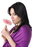 красивейший цветок вручает женщину стоковые фото