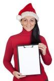 красивейший шлем девушки рождества Стоковое Фото