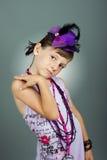 красивейший шлем девушки Стоковое Изображение