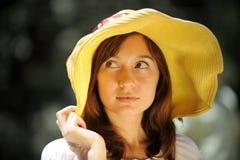 красивейший шлем девушки Стоковые Изображения RF