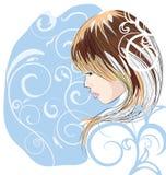 красивейший эскиз портрета девушки Стоковые Изображения