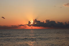 Заход солнца на Чёрном море Стоковое Изображение