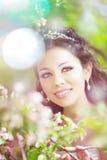 красивейший blossoming сад невесты Стоковое фото RF