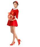 красивейший claus одевает носить santa девушки сексуальный Стоковые Фотографии RF
