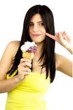 красивейший cream льдед руки девушки Стоковая Фотография