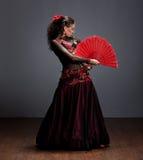 красивейший flamenco платья танцора Стоковое Изображение RF