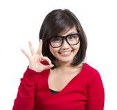 Красивейший gesturing маленькой девочки Стоковые Фото