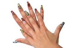 красивейший manicure стоковые изображения rf