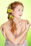 красивейший redhead девушки Стоковое Изображение RF