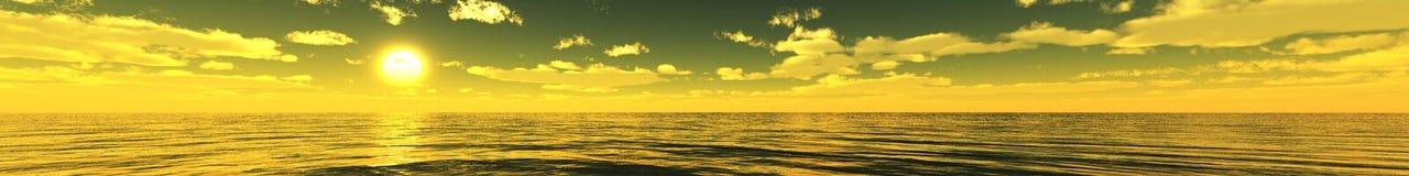 Красивейший Seascape взгляд Таиланда моря национального парка angthong свет над океаном Стоковые Фотографии RF