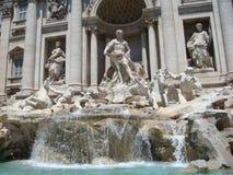 красивейший trevi roma ночи фонтана Стоковое Изображение RF
