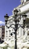 красивейший trevi roma ночи фонтана Стоковое Изображение