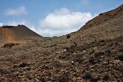 Красивейший vulcan ландшафт стоковая фотография rf