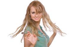 красивейшим женщина придавать правильную формуая концом Стоковые Фото